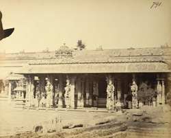General view of mandapa of the Margasahayeshvara Temple, Virinchipuram